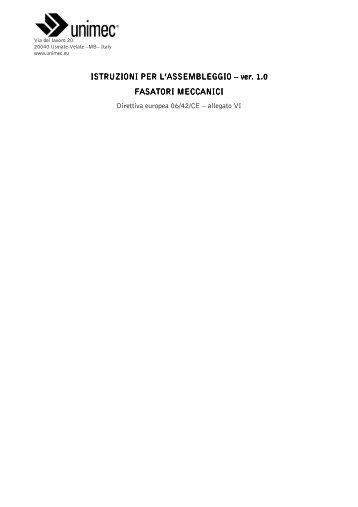 ISTRUZIONI PER L'ASSEMBLEGGIO – ver 1.0 FASATORI MECCANICI