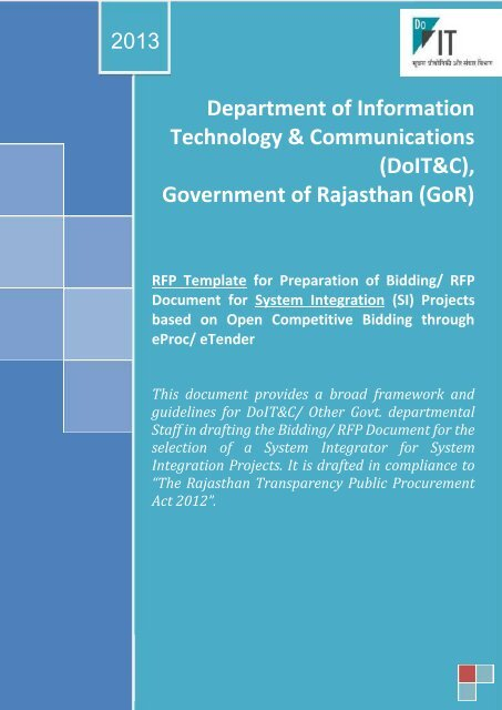 Department of Information Technology ... - DOITC Rajasthan