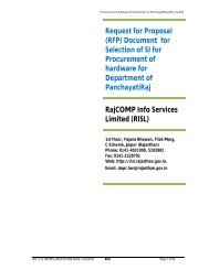 RFP Document after Pre-bid - DOIT & C - Government of Rajasthan