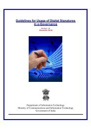 Guidelines for Usage of Digital Signatures in e-Governance
