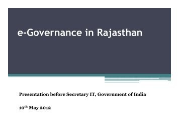 e-Governance in Rajasthan