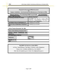RFQ document for Supply, Installation, Commissioning ... - DOIT & C