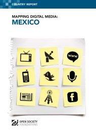 Mapping Digital Media: Mexico - Mediatelecom