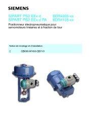 SIPART PS2 EEx d SIPART PS2 EEx d PA 6DR4005-xx 6DR4105-xx