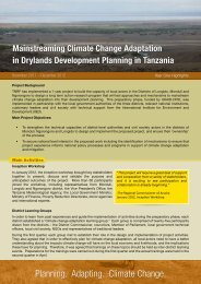 Planning Adapting Climate Change