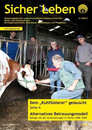 """Dem """"Kuhflüsterer"""" - Die Landwirtschaftliche Sozialversicherung"""
