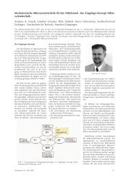 Mechatronische Mikrosystemtechnik
