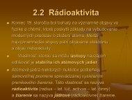 2.2 Rádioaktivita