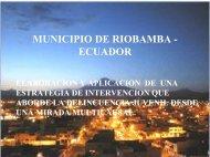 MUNICIPIO DE RIOBAMBA - ECUADOR