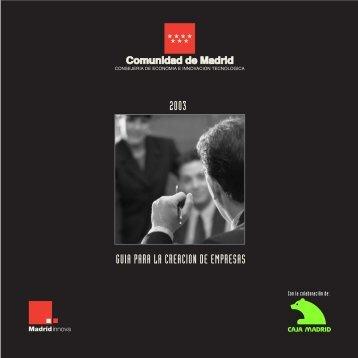2003 GUIA PARA LA CREACION DE EMPRESAS