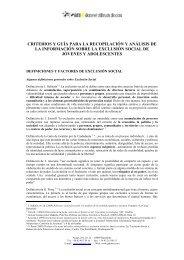 criterios y guía para la recopilación y análisis de la información ...