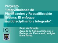 Proyecto Intervenciones de Planificación y Recualificación Urbana ...