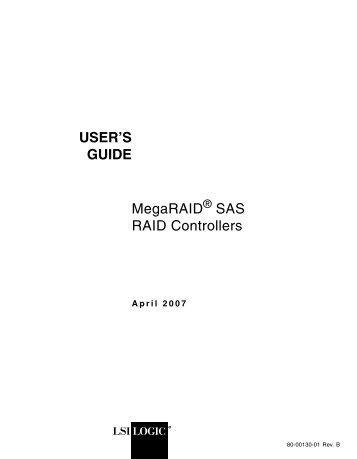 MegaRAID SAS RAID Controllers User's Guide - LSI