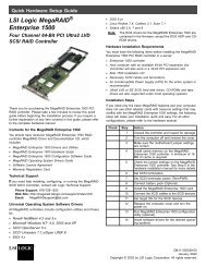 Symbios SYM20810 PCI to SCSI Host Adapter User's Guide - LSI
