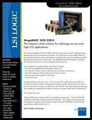 LSI Logic MegaRAID SCSI WebBIOS Configuration Utility