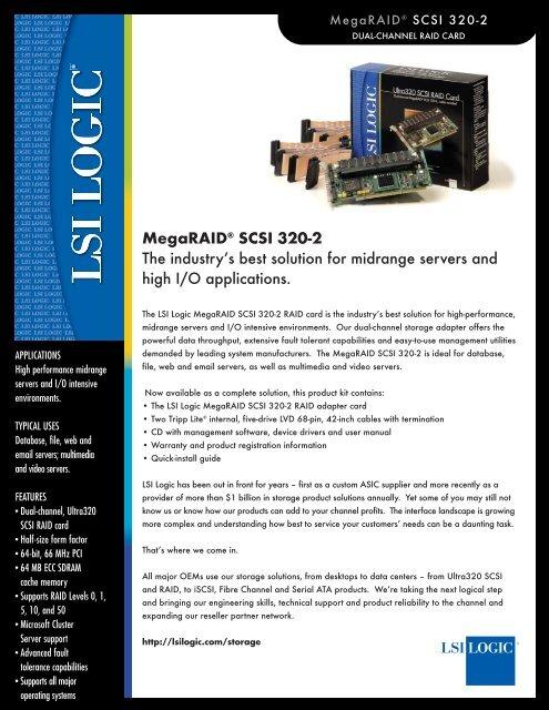 MegaRAID® SCSI 320-2