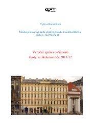 Výroční zpráva o činnosti školy ve školním roce 2011/12