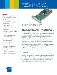 MegaRAID SCSI 320-0 product brief - LSI