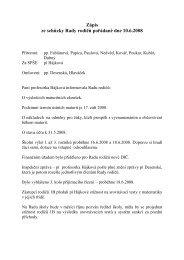 Zápis ze schůzky Rady rodičů pořádané dne 10.6.2008