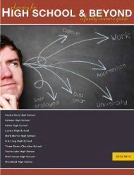 High School and Beyond, a Cowlitz County Family Resource Guide ...