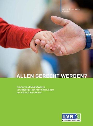 allen gerecht werden? (pdf, 2,78 mb) - Landschaftsverband Rheinland