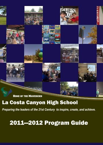 2011—2012 Program Guide - La Costa Canyon High School - San ...