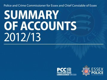 Summary of Accounts 2012 - Police and Crime Commissioner for ...