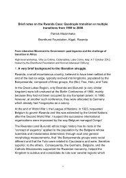 Rwanda - The Brenthurst Foundation