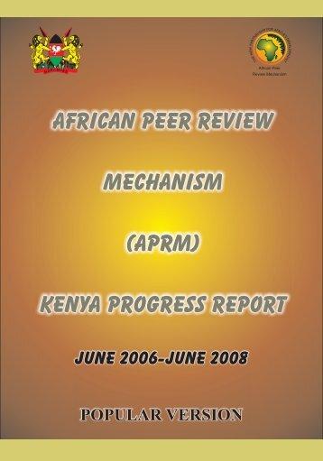 AFRICAN PEER REVIEW MECHANISM (APRM) KENYA PROGRESS REPORT