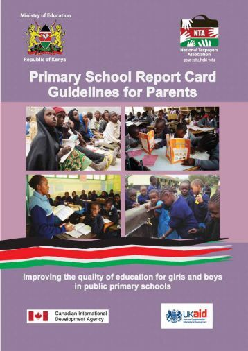 Primary School Report Card Guidelines For Parents