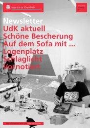 Newsletter Dezember 2012 - Universität der Künste Berlin