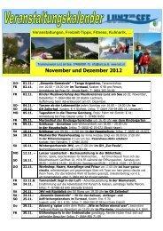 November und Dezember 2012 November und ... - Lunz am See