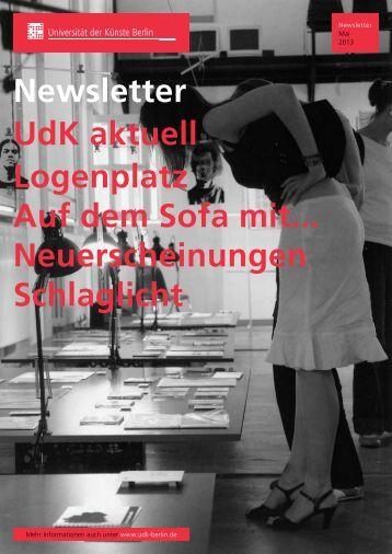 Newsletter Mai 2013 - Universität der Künste Berlin
