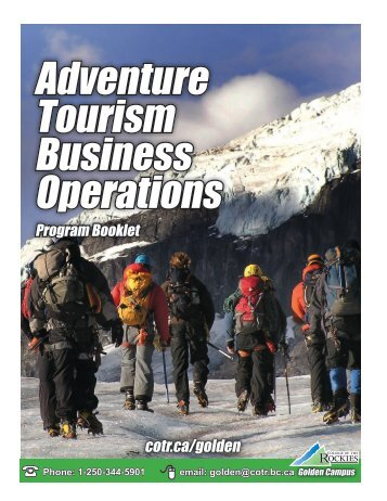 Adventure Tourism Business Operations
