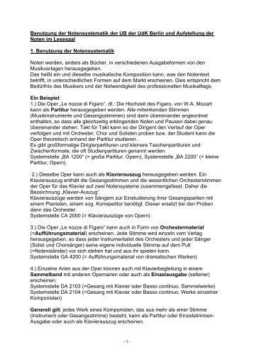 aufstellung [PDF] - Universität der Künste Berlin