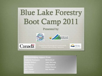 Blue Lake Forestry Boot Camp 2011