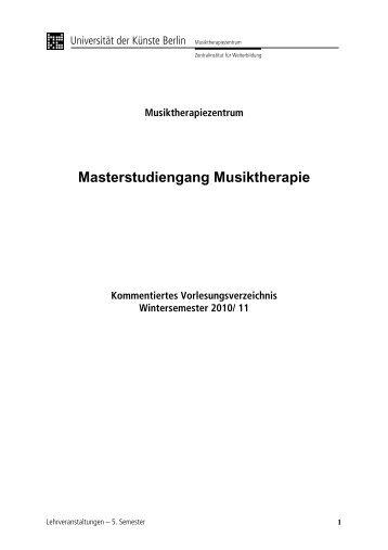 Masterstudiengang Musiktherapie