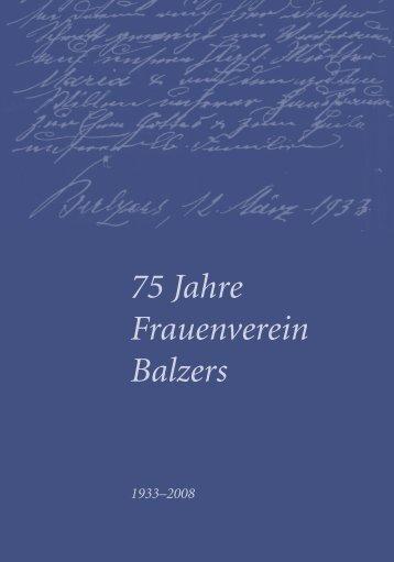75 Jahre Frauenverein Balzers - Gemeinde Balzers