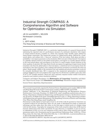 Industrial strength COMPASS - Mason academic research system ...
