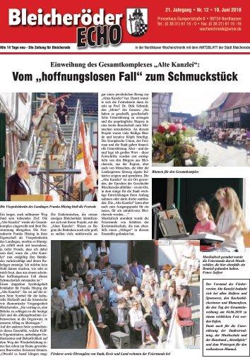 """Vom """"hoffnungslosen Fall"""" - Nordhäuser Wochenchronik"""