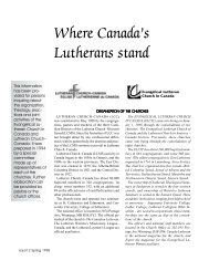 Where Canada's Lutherans stand - Lutheran Church-Canada