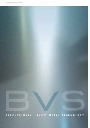 Blechtechnik · Sheet metal technoloGy - BVS
