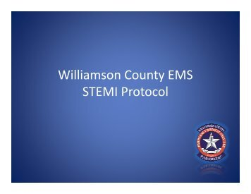 Williamson County EMS STEMI Protocol