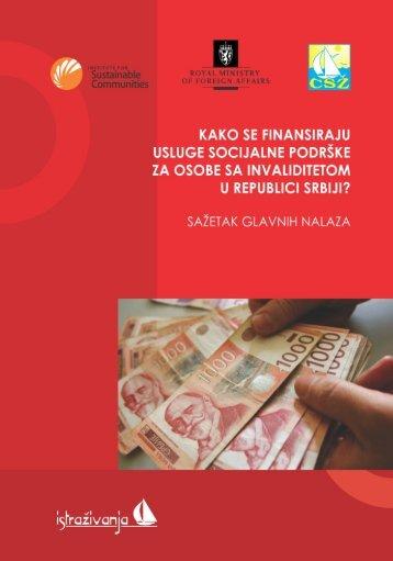 Istrazivanje Kako se finansira soc. zast. OSI 2012 - konacn
