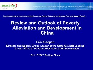 Review and Outlook of Poverty Alleviation and Development in China