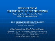 LESSONS FROM THE REPUBLIC OF THE PHILIPPINES