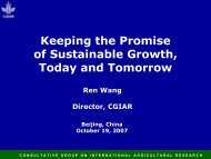 Keeping the Promise of Sustainable Growth Today and Tomorrow