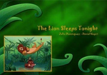 Lion sleeps tonight - Kontesa Dora