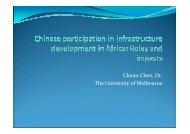 Challenges to Infrastructure Development in Africa