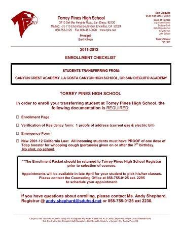 Torrey Pines High School - San Dieguito Union High School District